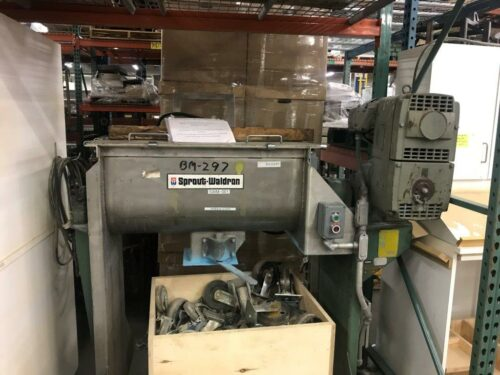 used sprout waldron 3 cubic foot ribbon blender