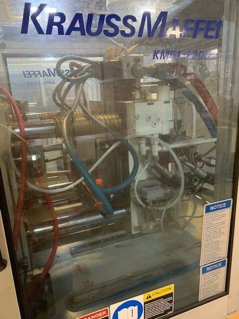 used 50-220 c1 krauss maffei injection molding machine