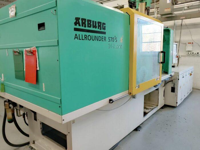 used 242 ton arburg 570s 2200/400 2-shot injection molding machine