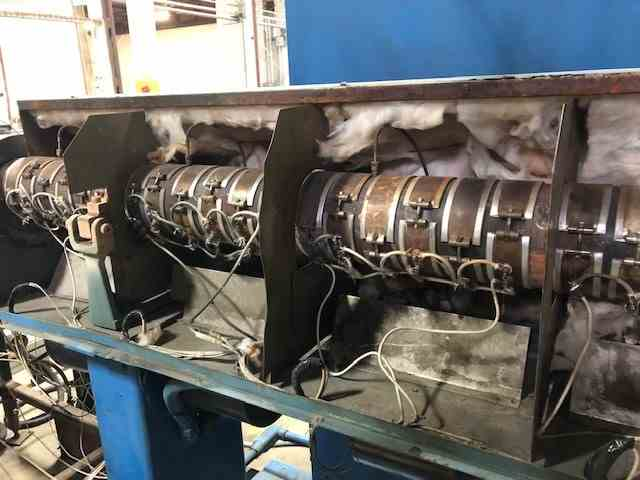 """used 3.5"""" sterling 24:1 l/d single screw extruder"""