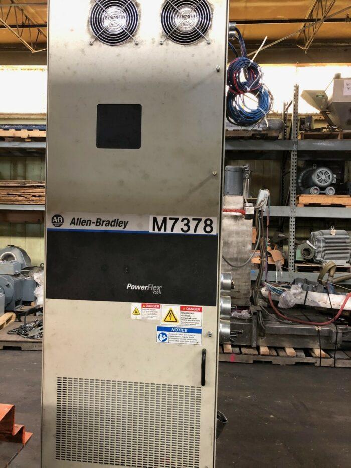 "used 6"" prodex model tm600-30 450 hp single screw extruder"