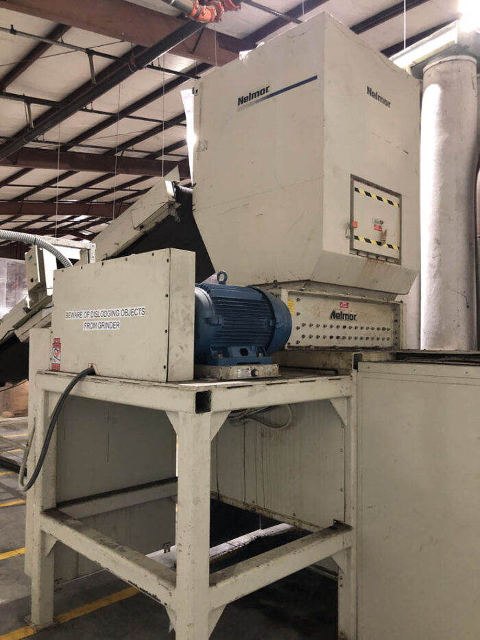 used 40 hp nelmor model 4625 shredder with blower and cyclone
