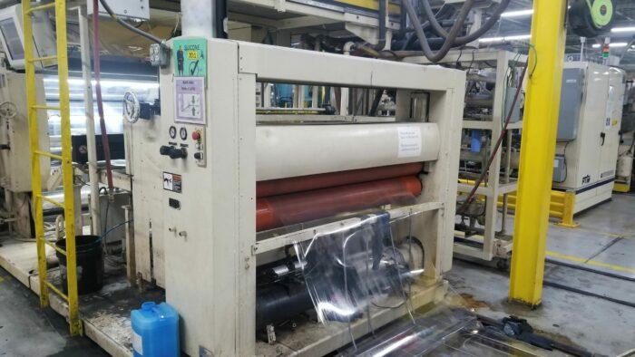 "Used 60"" Wide PET Sheet Extrusion Line with 6"" Cincinnati Milacron Apex Single Screw Extruder 1 Wide PET Sheet Extrusion"