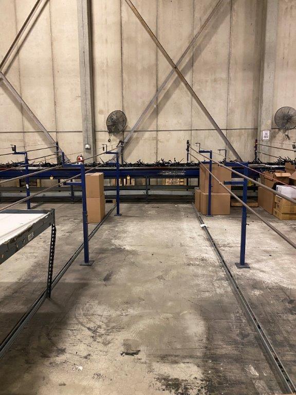 used 100 foot sorting line conveyor system