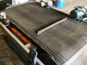 used 1.5 hp eriez cross belt magnet with stand