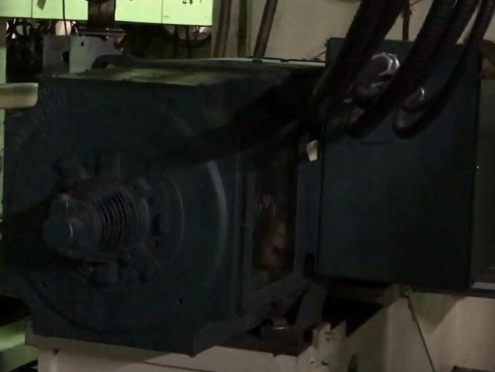used 250mm mitsubishi 500 hp 24:1 l/d single screw extruder