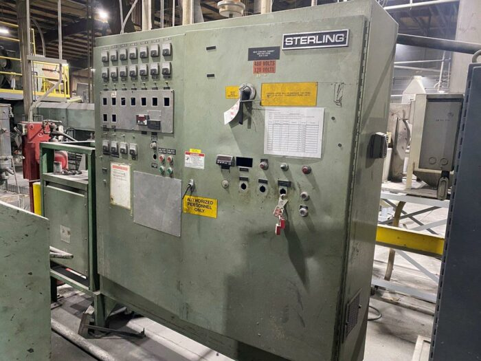 """used 6"""" sterling 500 hp 38:1 single screw extruder"""