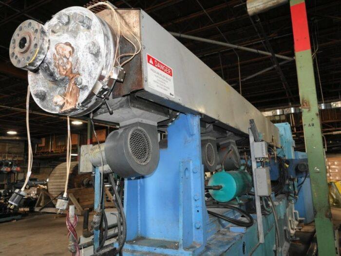 "used 6"" nrm 400 hp 34:1 l/d single screw extruder"