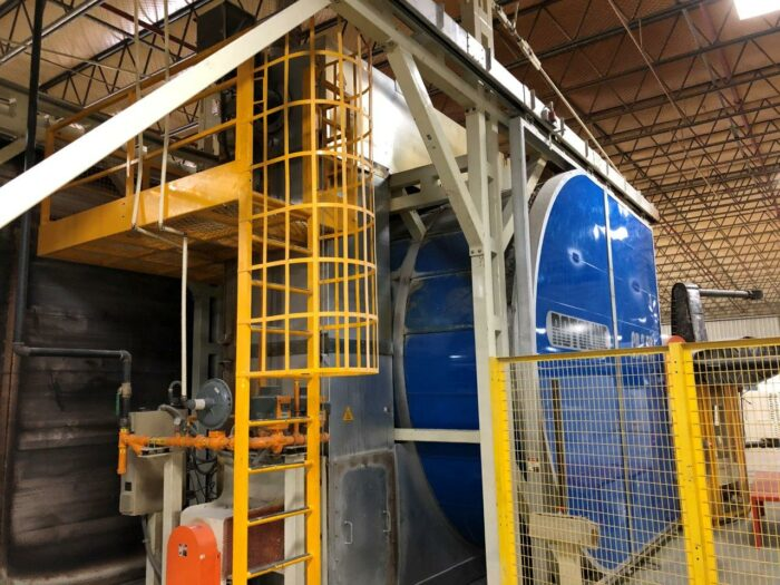 used rotoline 3.6-cr 3 arm carousel rotational molding machine