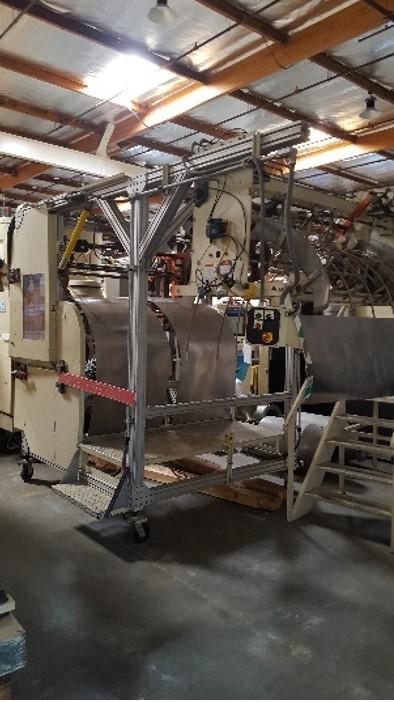 used brown model t-354v vertical trim press