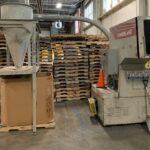 used 40 hp cumberland 684 grinder with blower cyclone