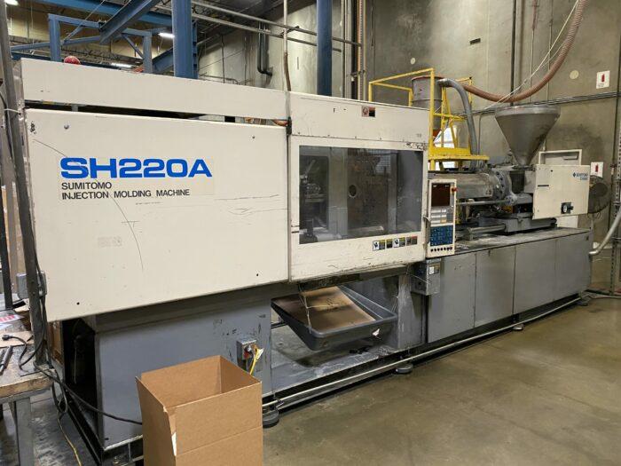 used 220 ton sumitomo sh220a injection molding machine