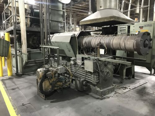 """used 6"""" sterling 500 hp 38:1 l/d single screw extruder"""