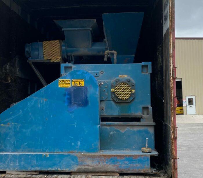 "used 4.5"" 250 hp polytruder 38:1 l/d single screw extruder"