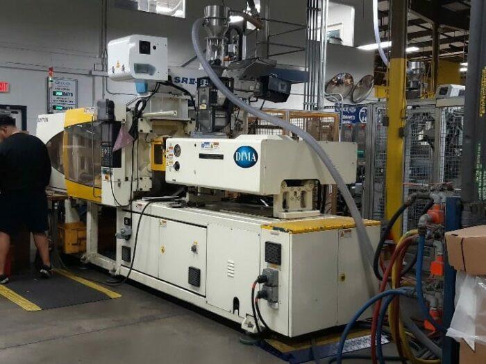 used 180 ton dima dmt180 injection molding machine