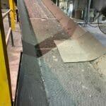 "used 36"" x 42' infeed incline conveyor"