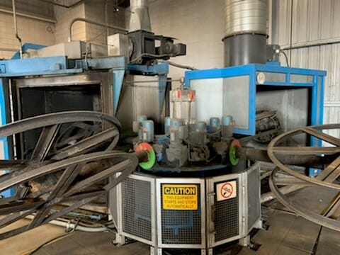 used ferry rs160 4 arm rotational molding machine
