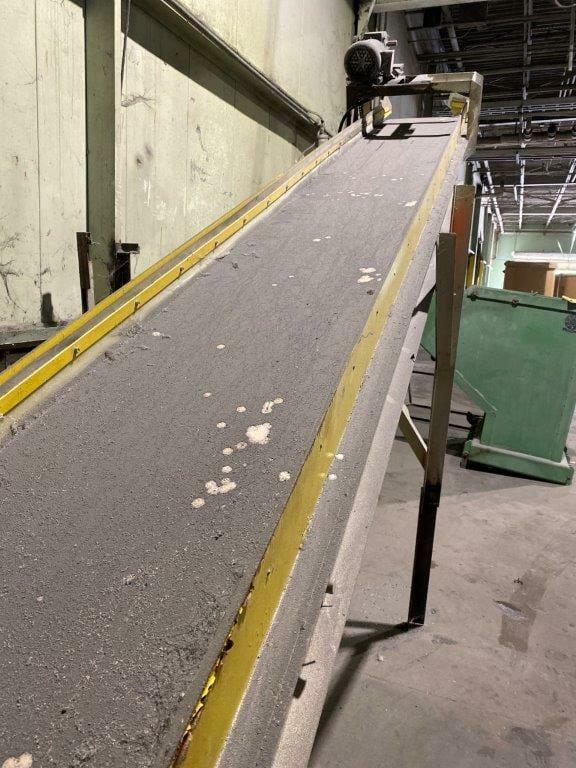 "used 19"" x 232"" incline conveyor"