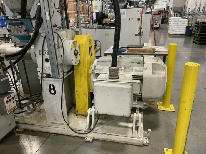 """used 3"""" 35:1 l/d american maplan single screw extruder"""