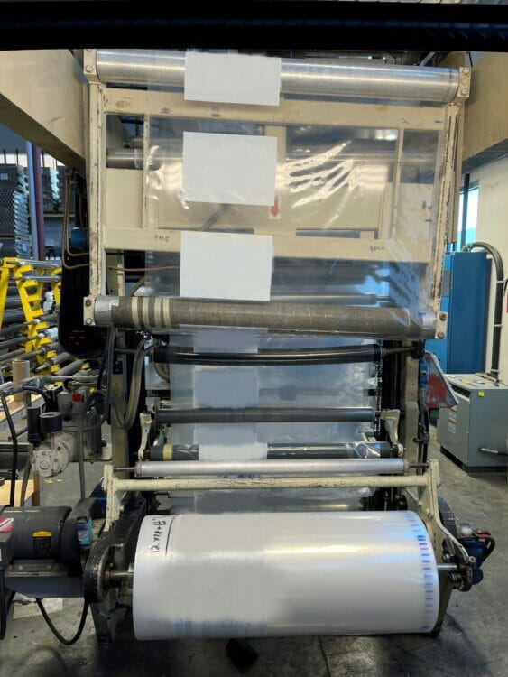 """used 40"""" wide condes corporation ci film printing press"""