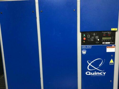 used 100 hp quincy qsi-500i rotary screw compressor