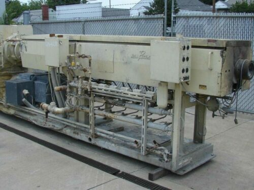 """used 4.5"""" nrm 200 hp 34:1 l/d pacemaker iii single screw extruder"""
