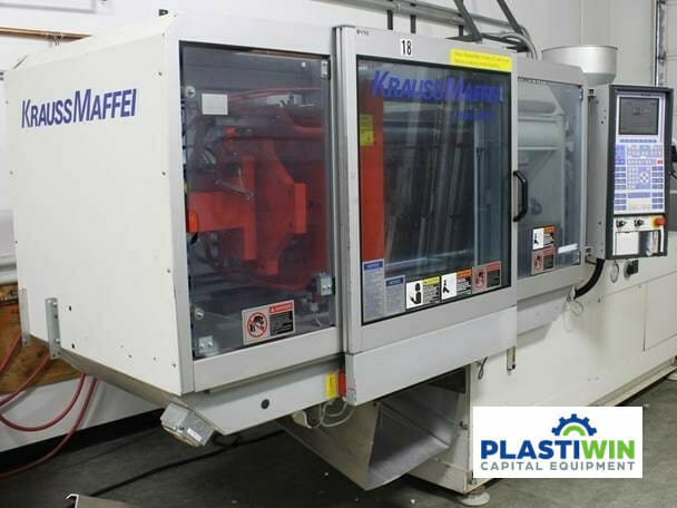 used 80 ton krauss maffei km80-390 c2 injection molding machine