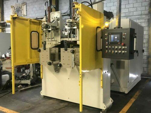 bekum rebuilt h-121 triple pe head extrusion blow molding machine
