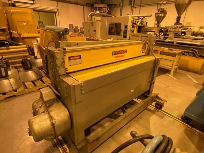 """58"""" wide 3.5"""" 150 hp nrm complete lab sheet extrusion line"""