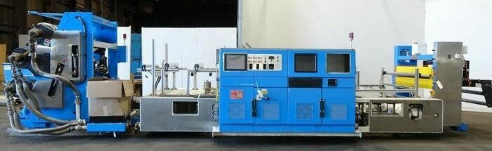 used welex 3 roll sheet stack