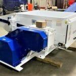 used 60 hp vecoplan model vaz 1100 xl single shaft shredder