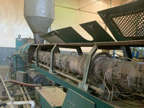 "Used 6"" Berlyn 30:1 L/D 300 HP Complete Pelletizing Line"