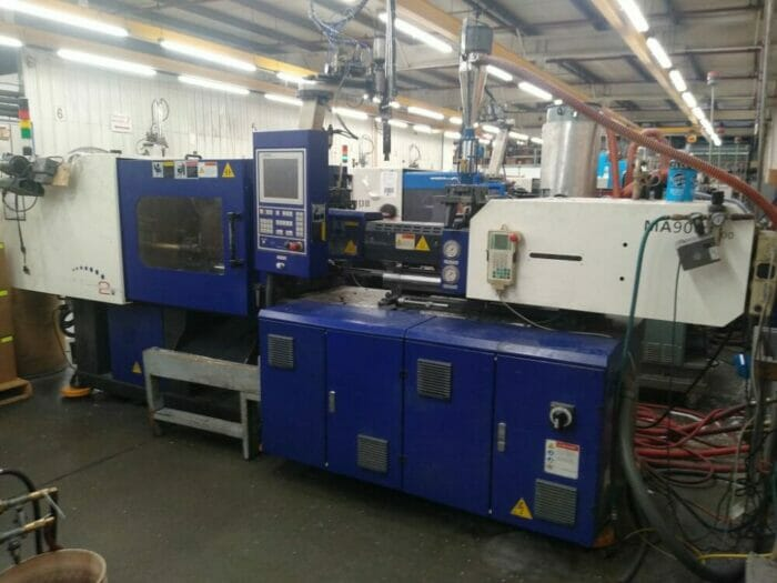 Used 101 Ton Haitian MA900 Hybrid Injection Molding Machine